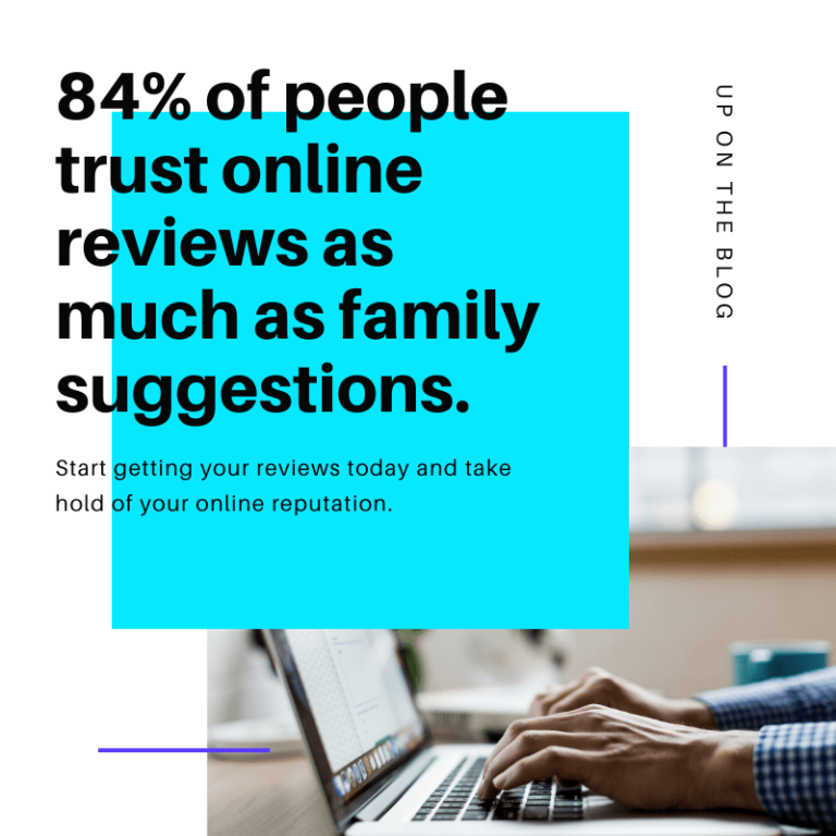 84% People Trust Online Reviews Graphic
